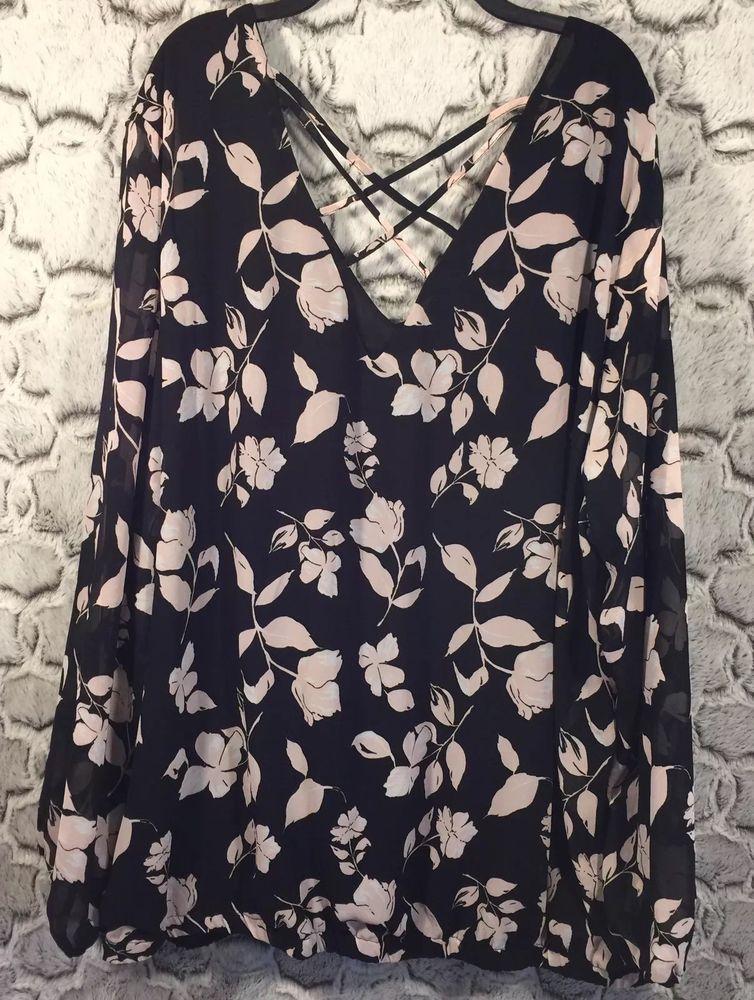 Torrid Womens Plus Size 4 (4X) (26) Floral Print Cross