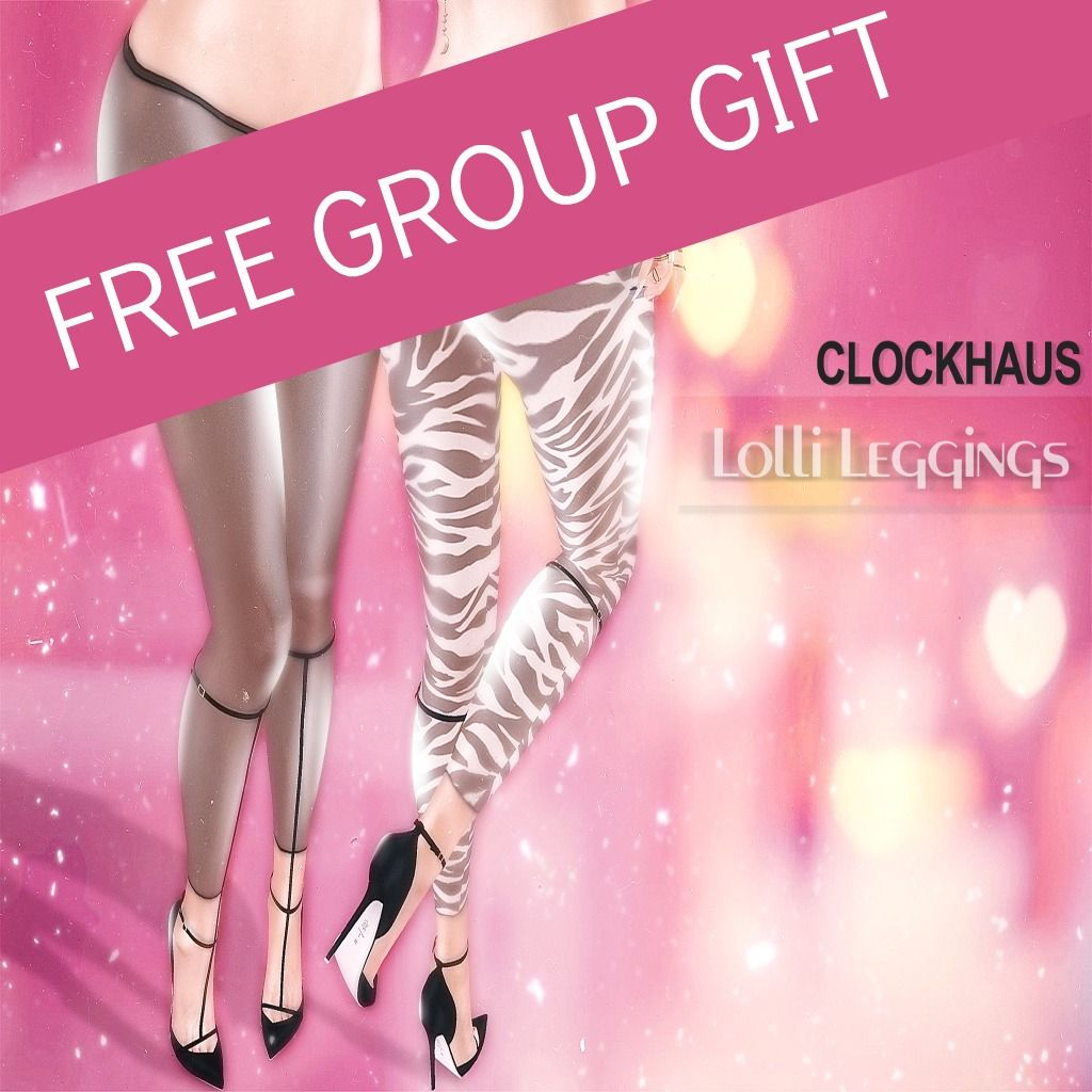Free Lolli Leggings Fatpack Second Life. The Lolli leggings are a free group gift. They come in black, leopard, pink, white and zebra textures. This