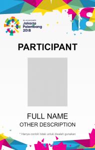 Template Name Tag Panitia : template, panitia, Place, Design, ASEAN, Games, 2018,, Card,, Packaging,, Product, Contoh, Kartu, Nama,, Kata-kata, Motivasi
