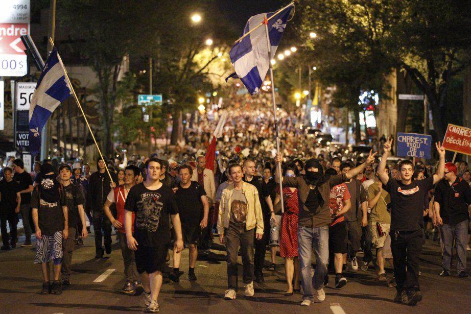 33e manifestation nocturne à Montréal (26 mai) (avec