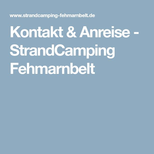 Kontakt & Anreise - StrandCamping Fehmarnbelt