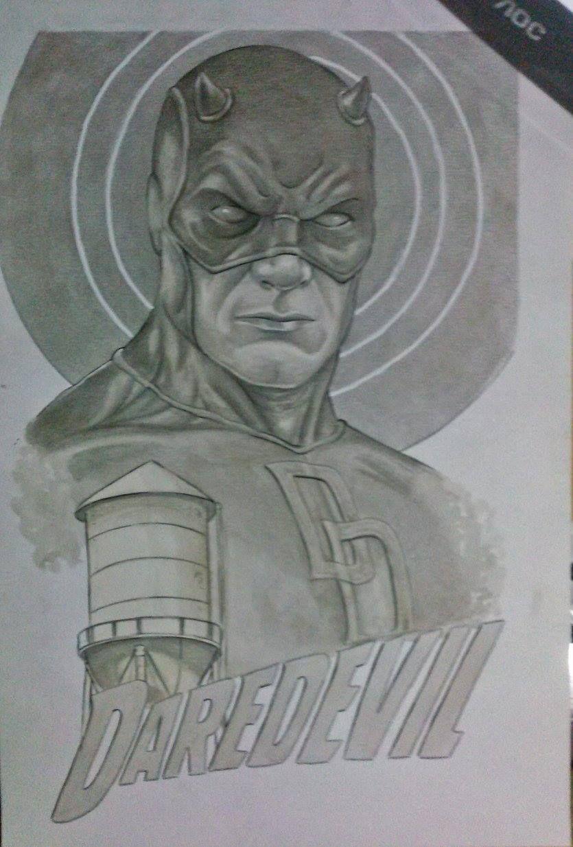 Ilustração Demolidor -Edi santos Daredevil illustration -Edi santos
