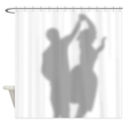 50s Dancing Couple Silhouette Shower Curtain Dancing Couple