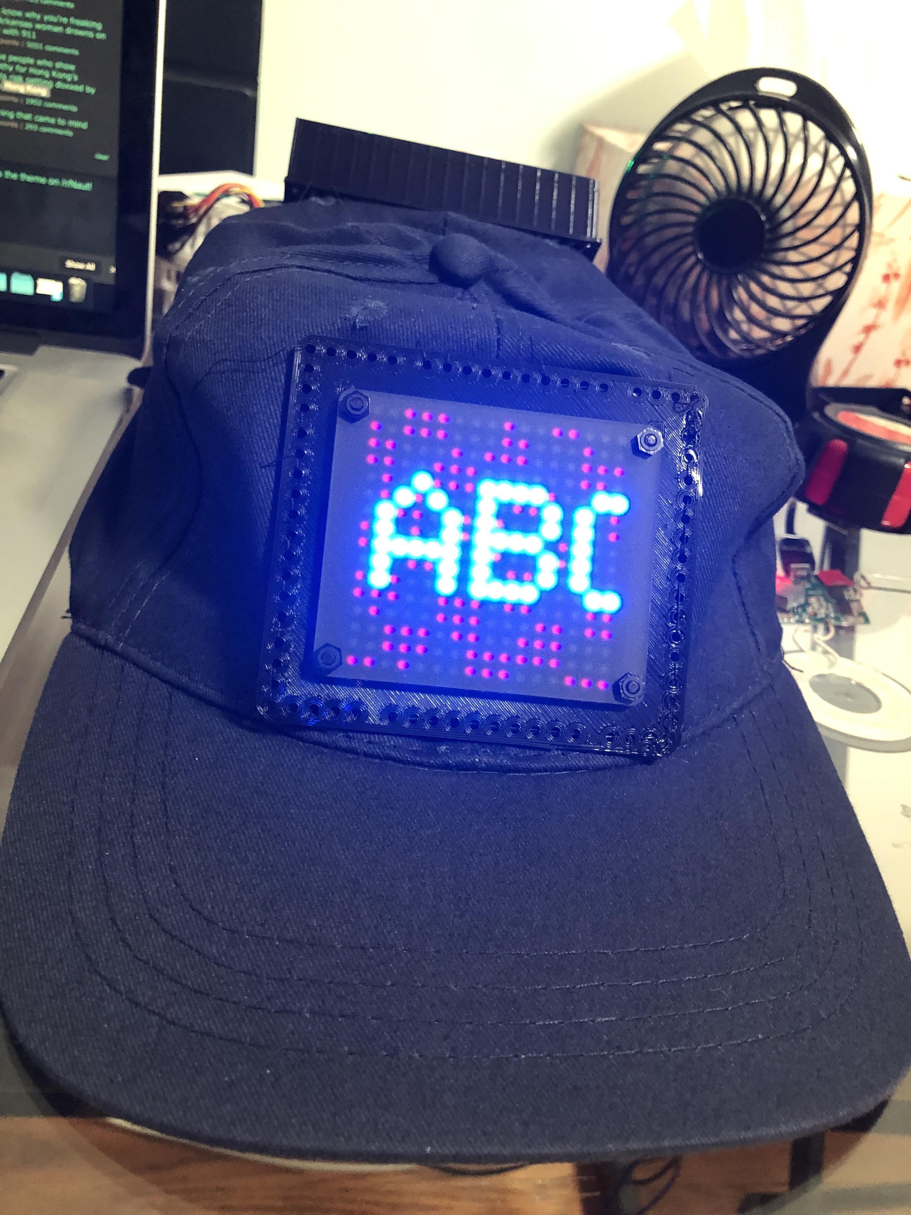 Made An Led Hat For Music Festival Led Hat Music Festival Arduino