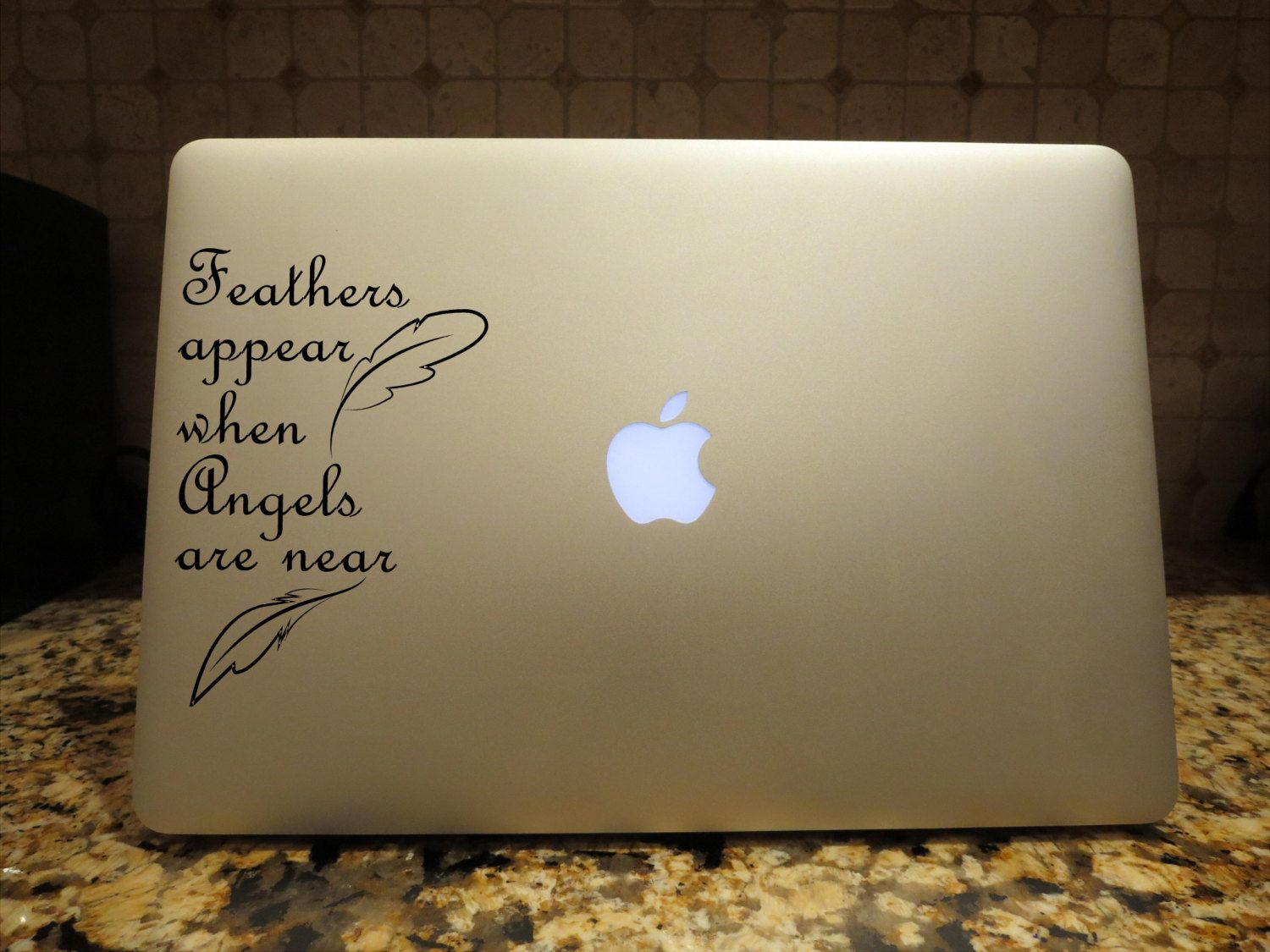 Feathers Appear when Angels are near Decal Custom Vinyl