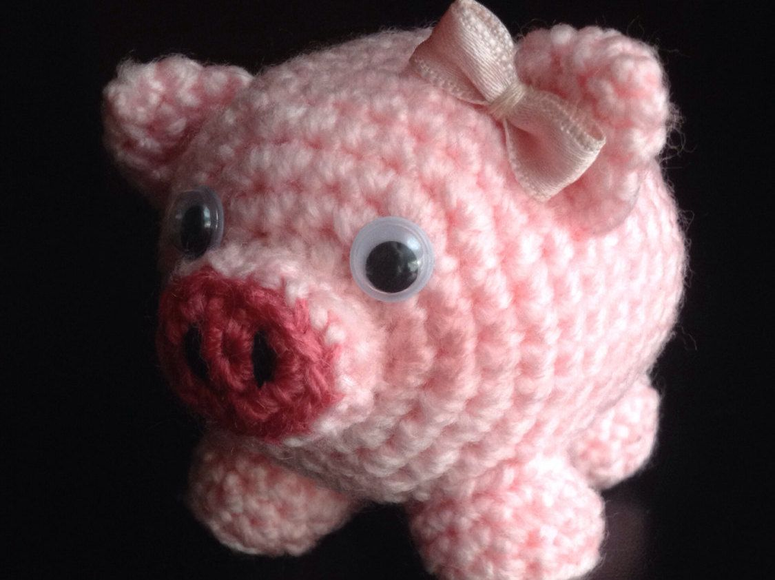 Amigurumi Magazine Pdf : Cerdo patrón amigurumi cerdito animal bebe por amigurumeria en