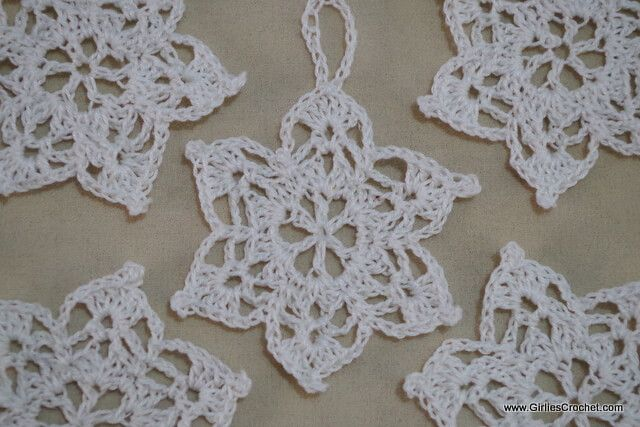 Free Crochet Pattern 6 Point Star A Snowflakes For Christmas