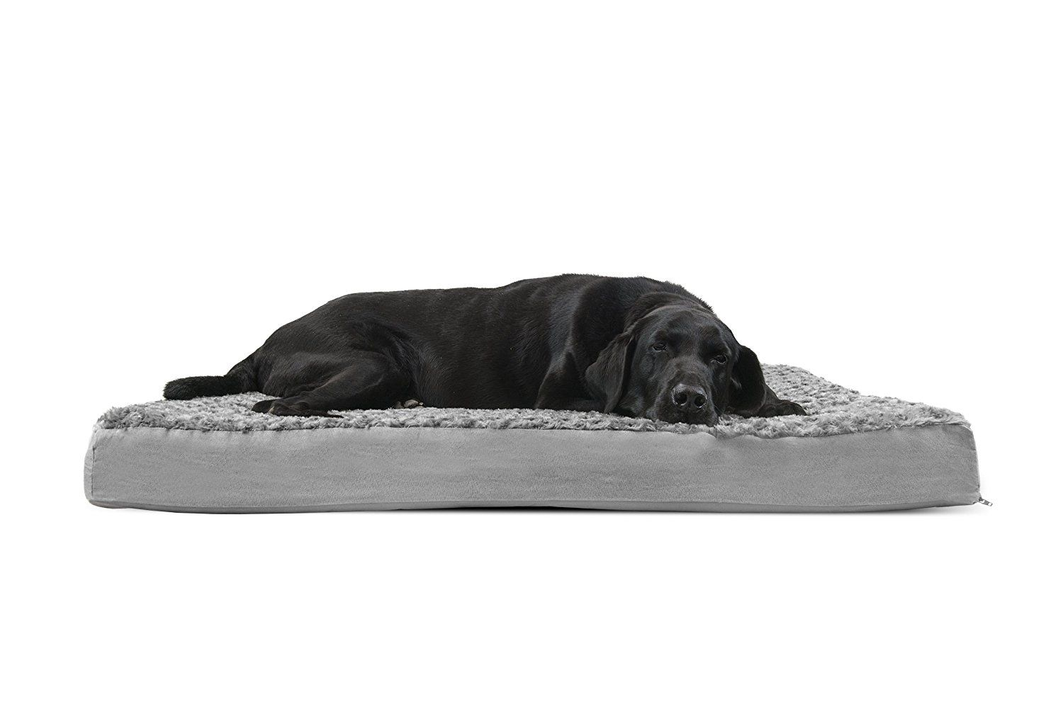 Furhaven Orthopedic Mattress Pet Bed Jumbo Gray For Dogs And Cats Features A Water Resistant Polycanvas Base T Dog Pet Beds Orthopedic Pet Bed Cool Dog Beds