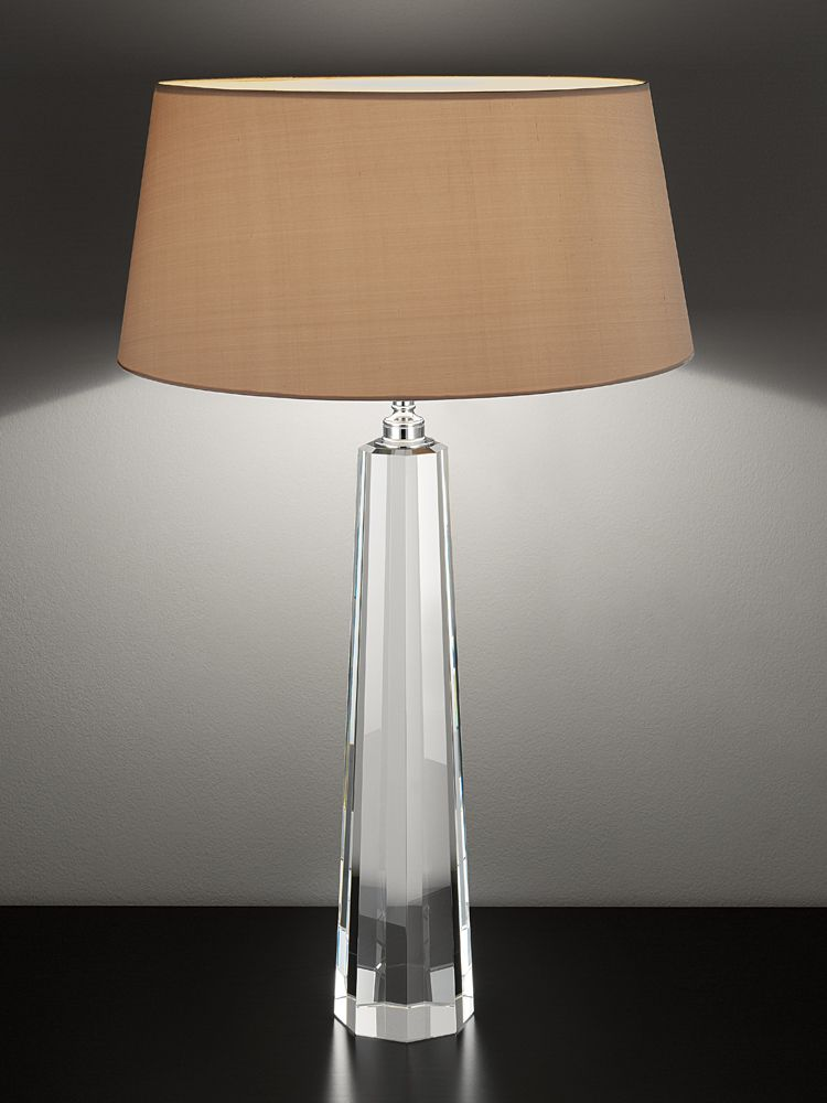 Chelsom table lamp with a clean transparent glass base and a warm chelsom table lamp with a clean transparent glass base and a warm handmade satin aloadofball Image collections