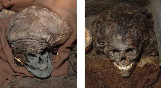 Kvinder og mænd i bronzealderen - Nationalmuseet Skrydstrupkvinden og den unge mand fra Borum Eshøj er to af bronzealderens kendte ansigter