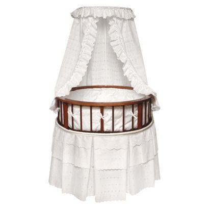 Badger Basket Cherry Elegance Round Bassinet with Bedding ...