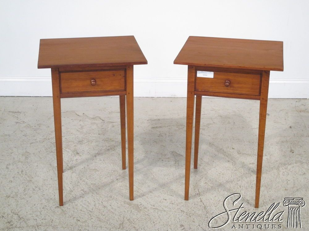 detailed look 43ee0 7ee5b Pair Bench made 1 Drawer Shaker Style Cherry Nightstands ...
