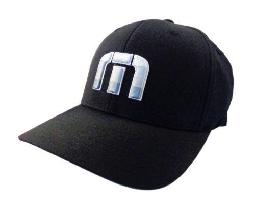 fb4c31222f8 NEW Travis Mathew Donnelly Black Flexfit Fitted L XL Hat Cap