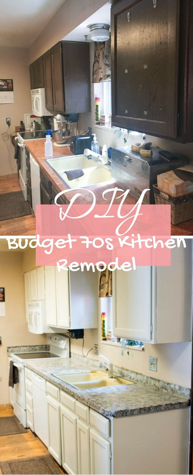 DIY Kitchen Countertops and Cabinets on a