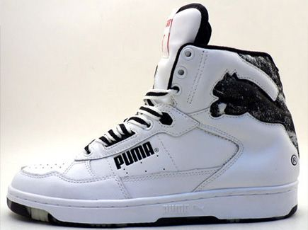 puma basketball shoes. shoes like this is how puma fell off in the late 80s and early 90s. basketball