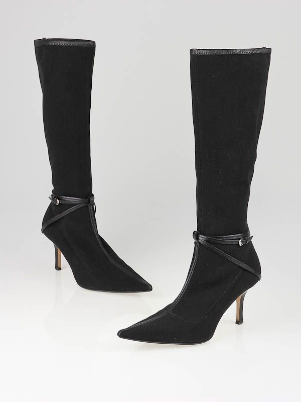 e5170f4a105 Oh my! I really like these black stretch leather Gucci high boots. I ...