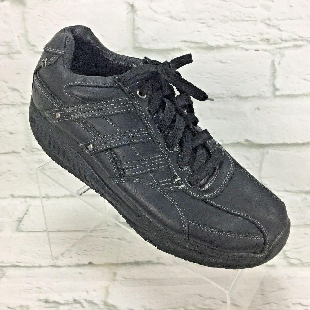 Skechers Shape Ups Mens Us 11 Black Leather Toning Walking Athletic Shoes Skechers Walkingshoes Ebay Shoes Skechers Shape Ups All Black Sneakers