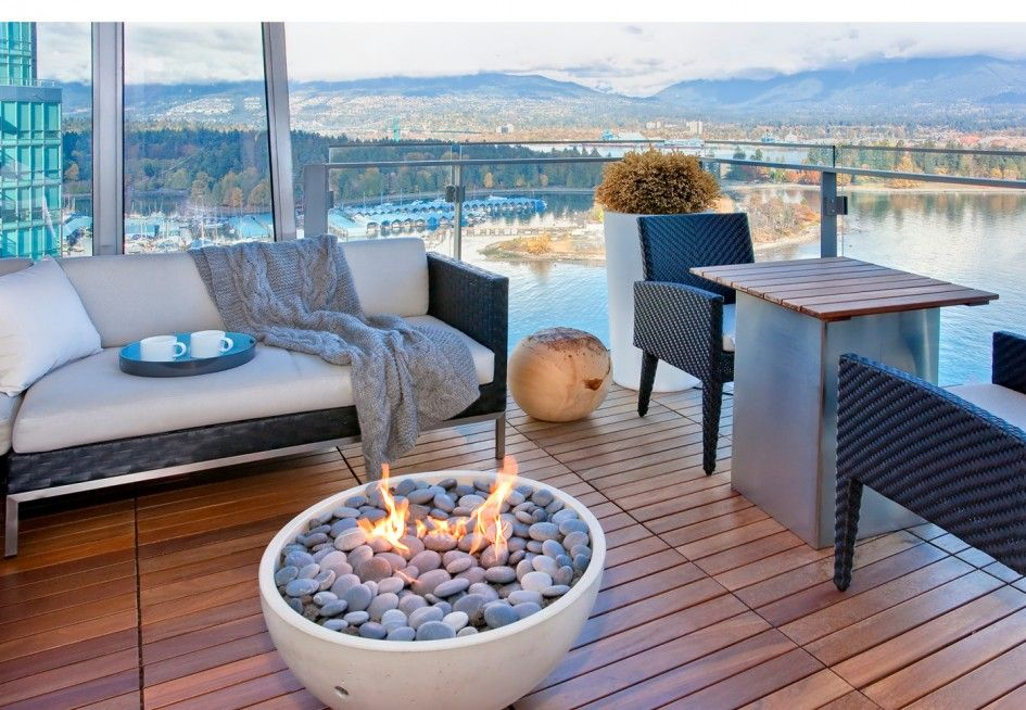 A Gas Firepit Is A Great Safe Option For A Balcony Or
