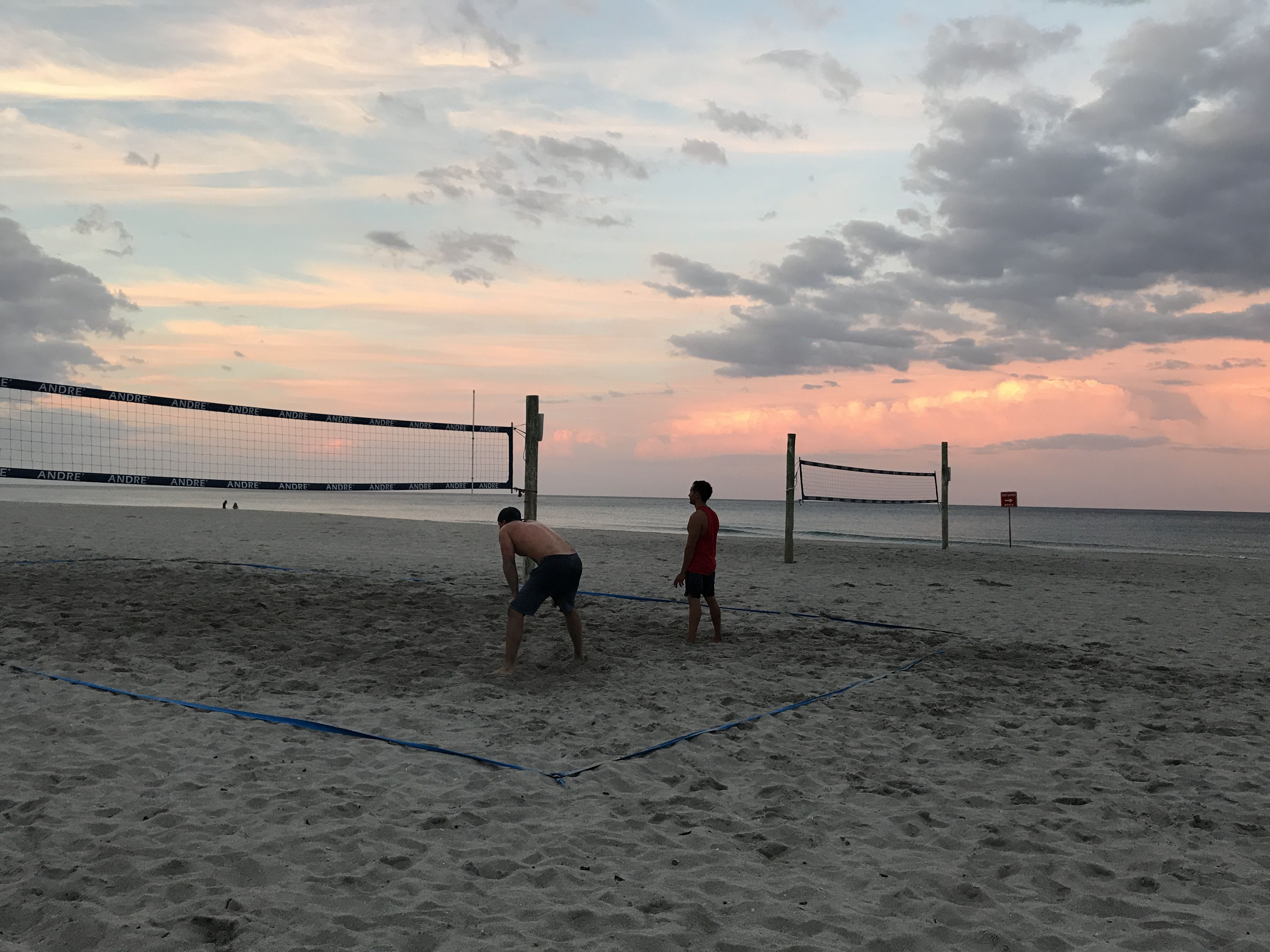 Into The Night Volleyball Beach Outdoor Sunset