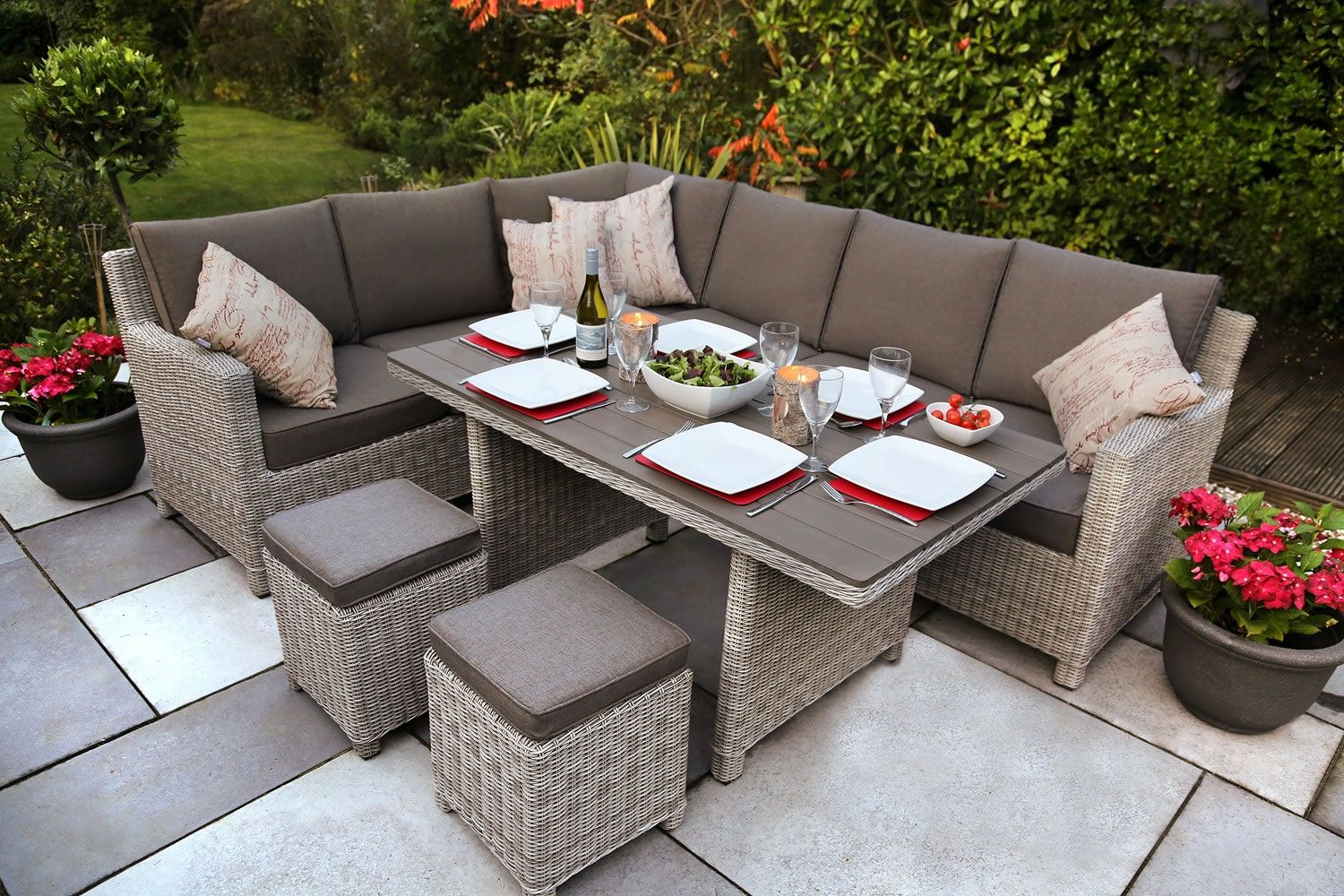does both jobsdining relaxing kettler palma corner set white wash garden furniture world - Garden Furniture Kettler