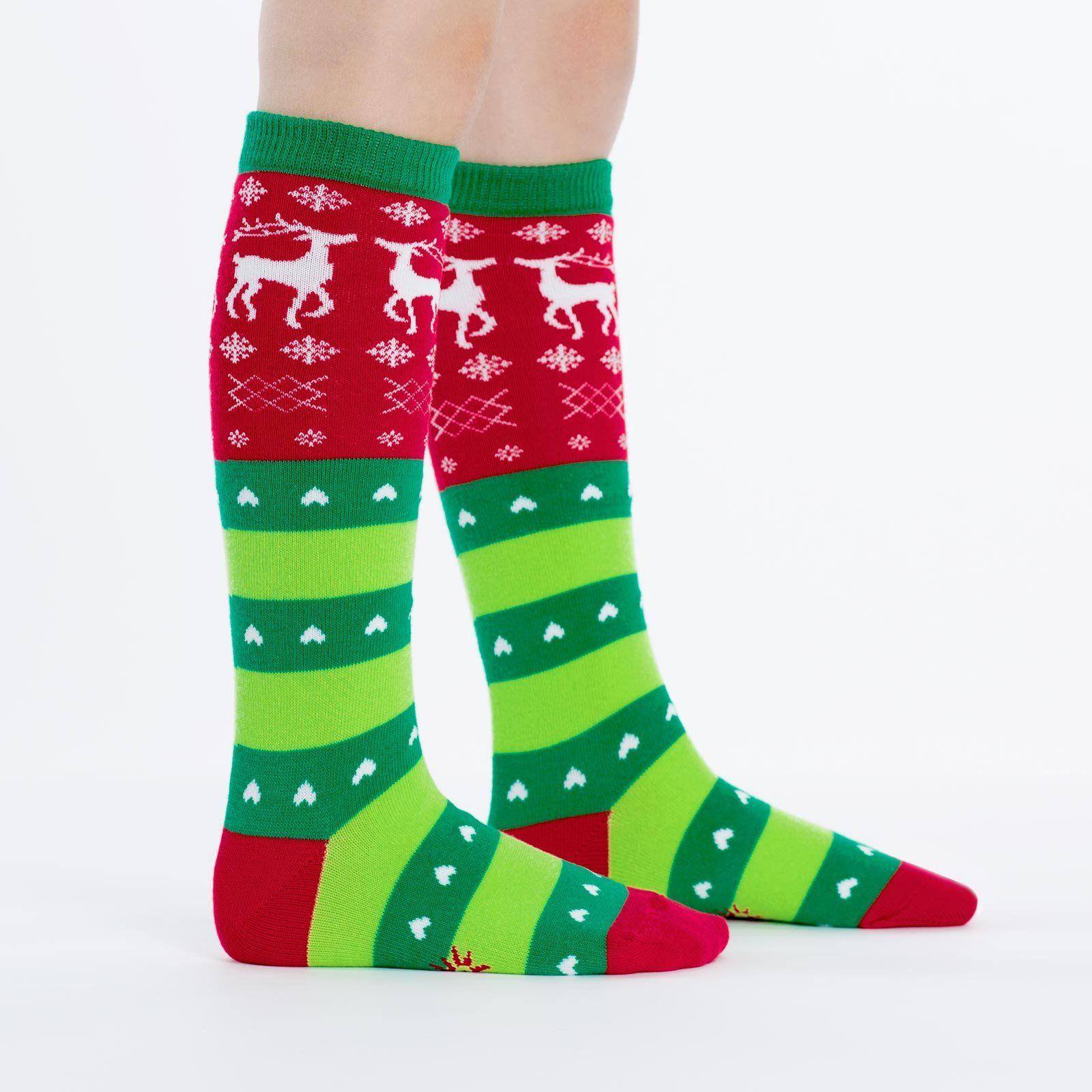 For Bare Feet NCAA Ugly Christmas Holiday Socks