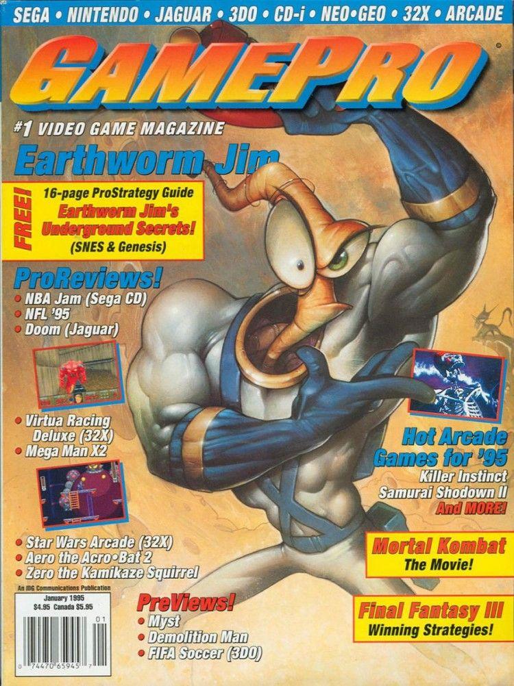 Earthworm Jim Gamepro | Game magazines | Video game magazines