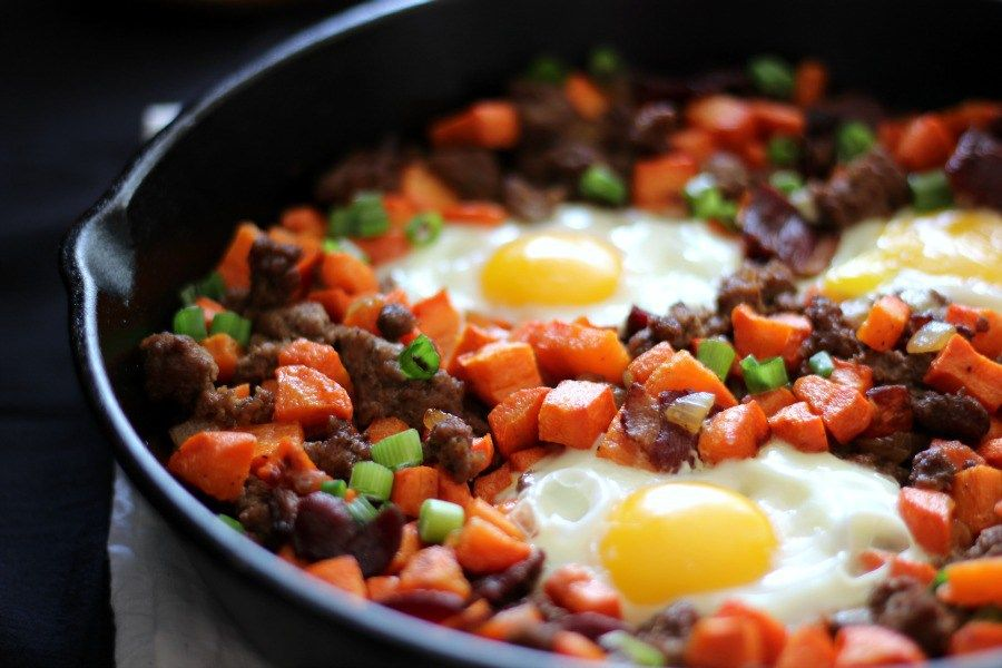 Roasted Carrot Hash With Ground Beef And Bacon Paleo Whole Food Recipes Ground Beef Carrot Recipes