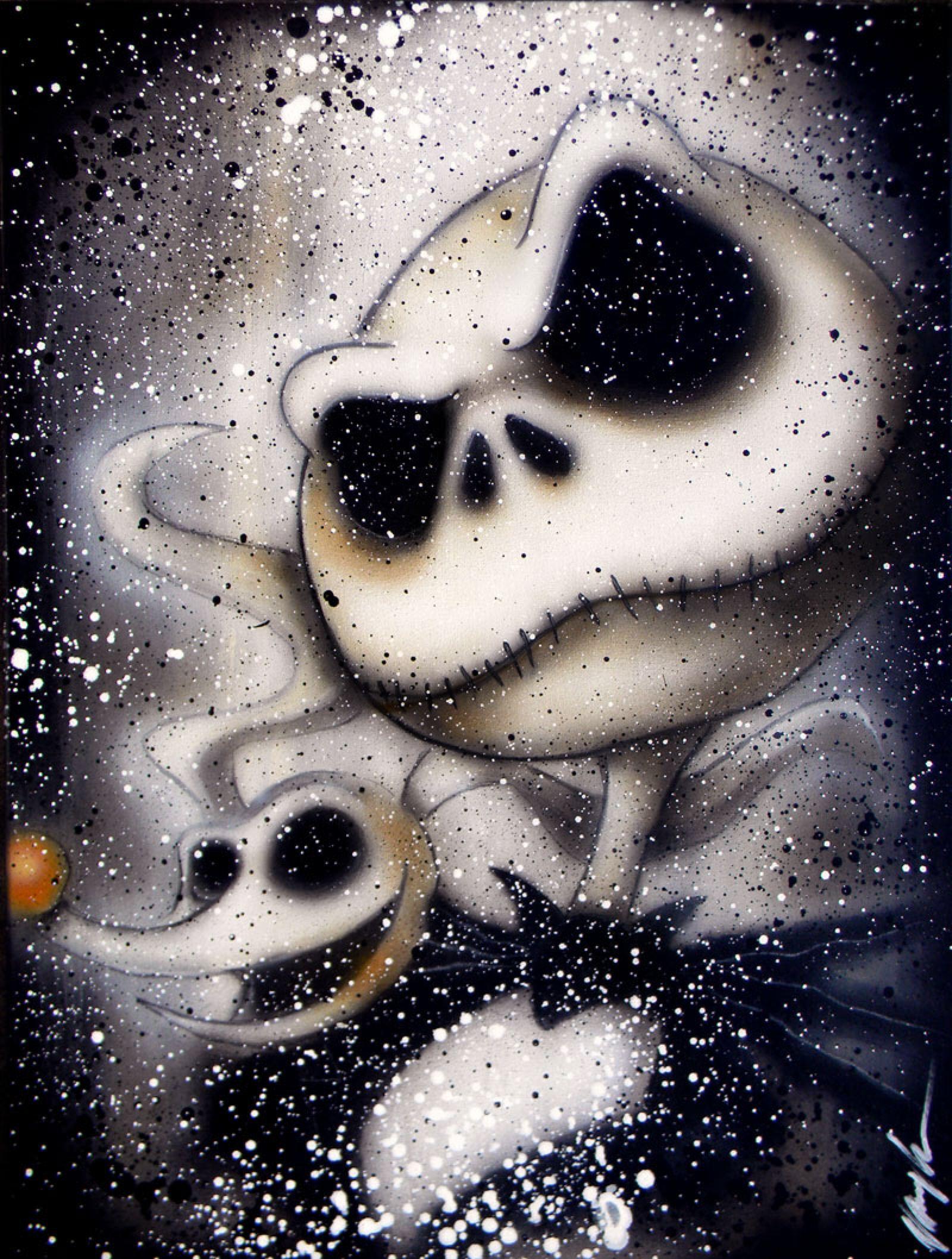 Jack And Zero By Vaughnb On Deviantart Nightmare Before Christmas Tattoo Nightmare Before Christmas Wallpaper Nightmare Before Christmas Drawings