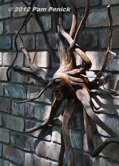 MOON N WHIMSY WOMAN DANCER Yard Pond Hanging Metal Art