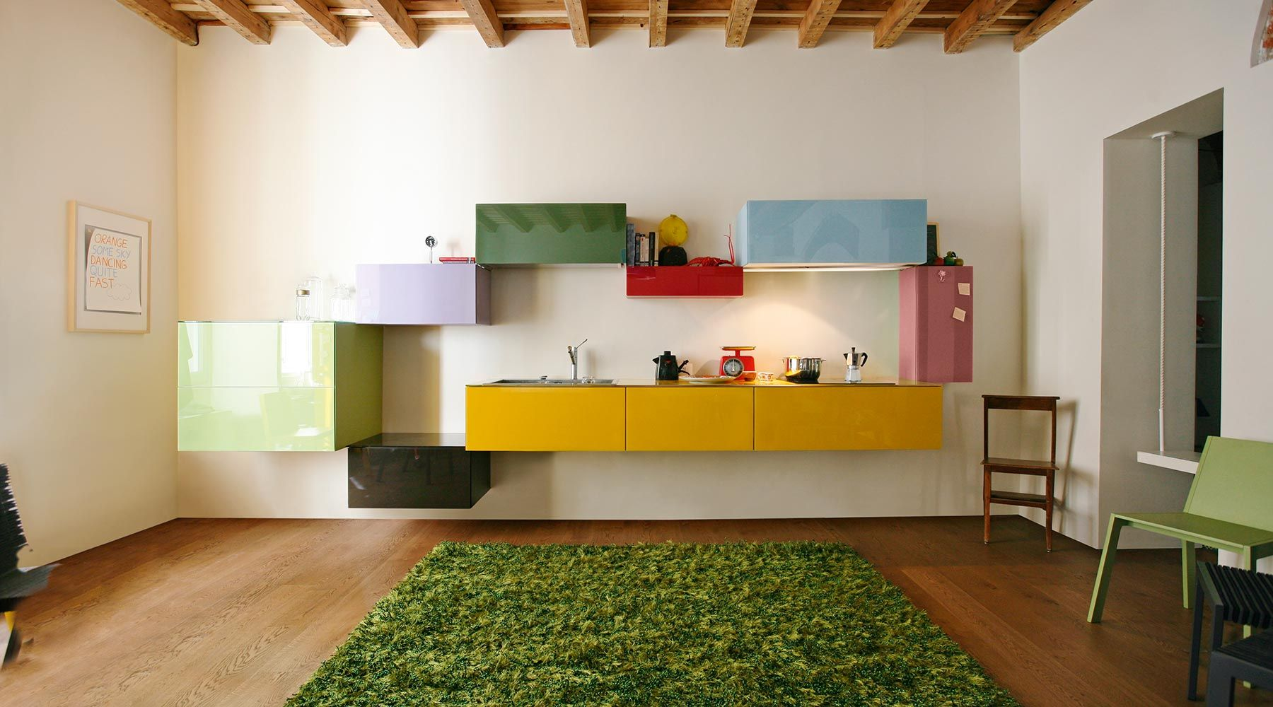 Cucina di design sospesa e modulare Home decor, Home