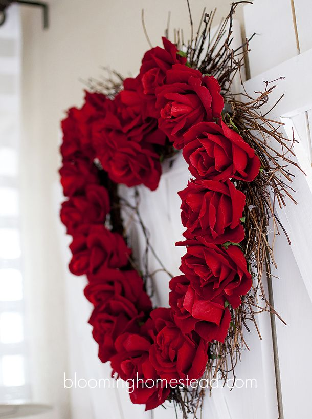 Valentine Wreath Part - 35: 184: Valentineu0027s Day Crafts, Decor, And Recipes