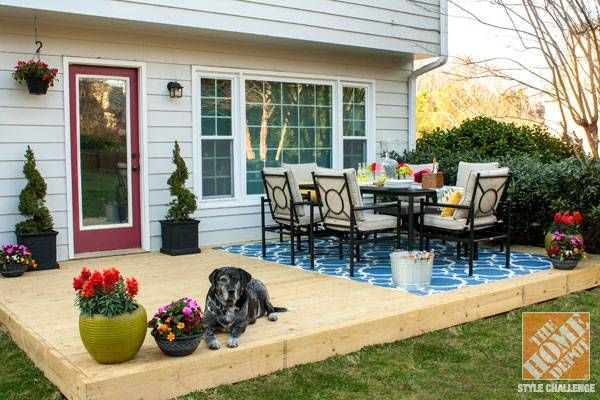 Outdoor Dining Room And Wood Deck For Small Backyard Design Ideas