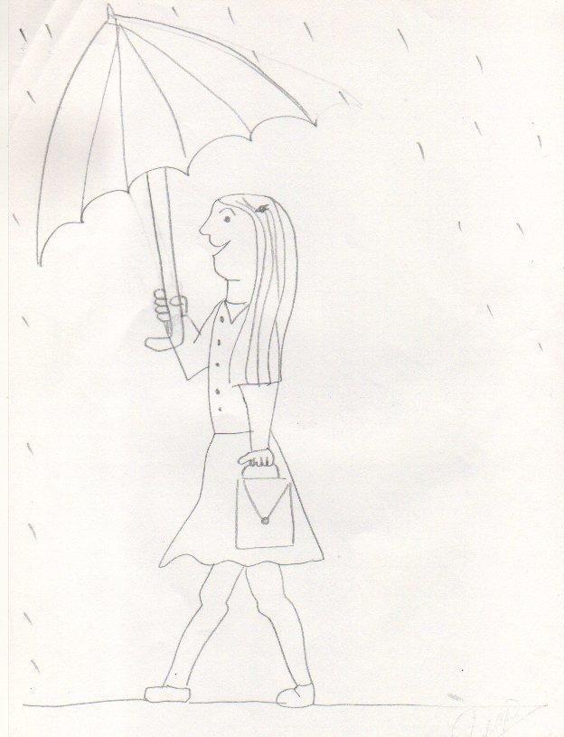 Pin En Mujer Bajo La Lluvia