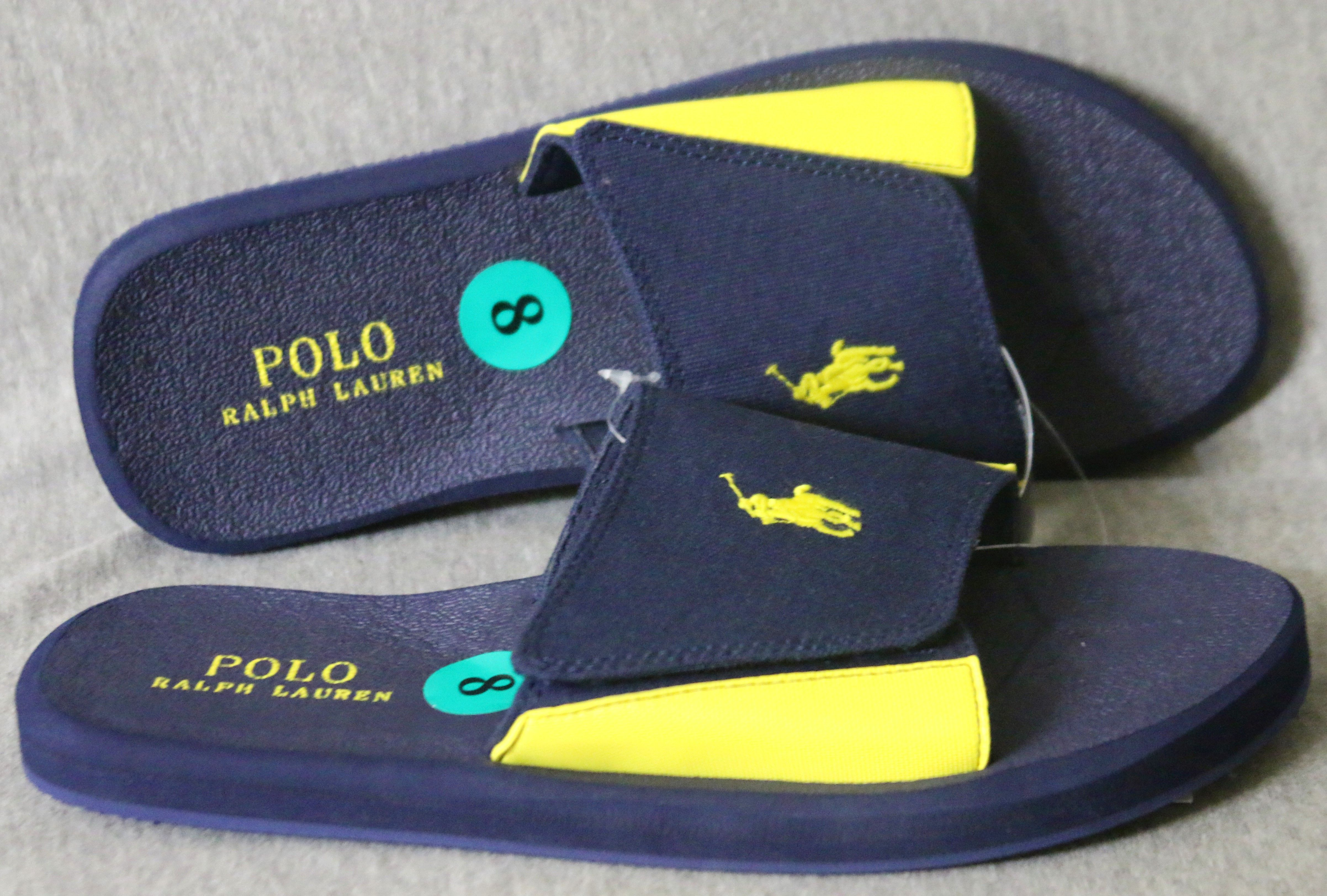 802611f62ed Polo Ralph Lauren Men s Big Pony Logo Flip Flops Sandals Slippers ...