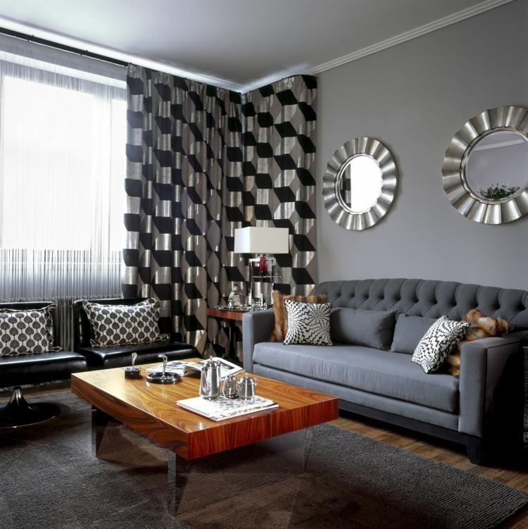 Peinture grise pour les murs du salon top idées en 27 photos - peindre un mur en bois