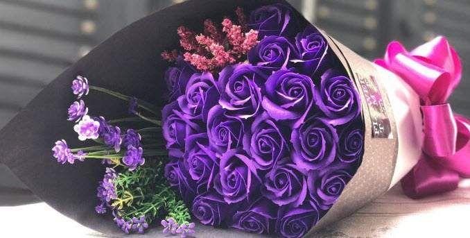 50 bó hoa sinh nhật màu tím đẹp, độc đáo nhất và ý nghĩa ...