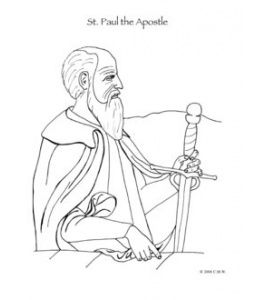 St Paul The Apostle Catholic Coloring Page With Images Paul