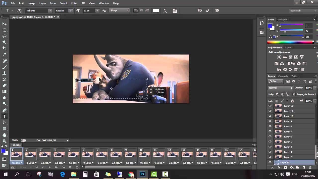 الكتابة على الصور المتحركة باستخدام الفوتوشوب Video Lae Pandora Screenshot