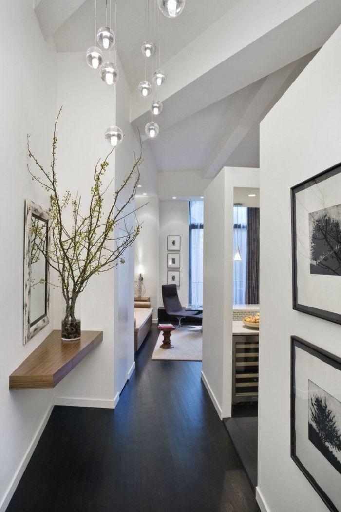 meubler son appartement idee amenagement interieur sol en parquet noir