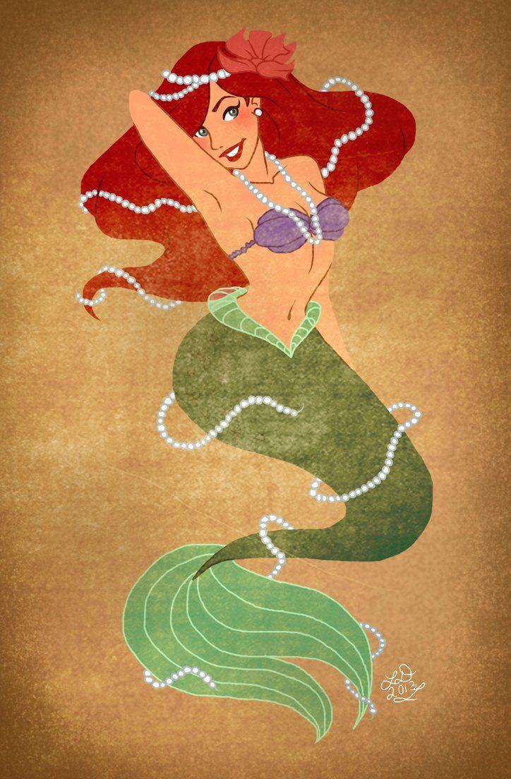Vintage Ariel by ~lauren-draghetti on deviantART