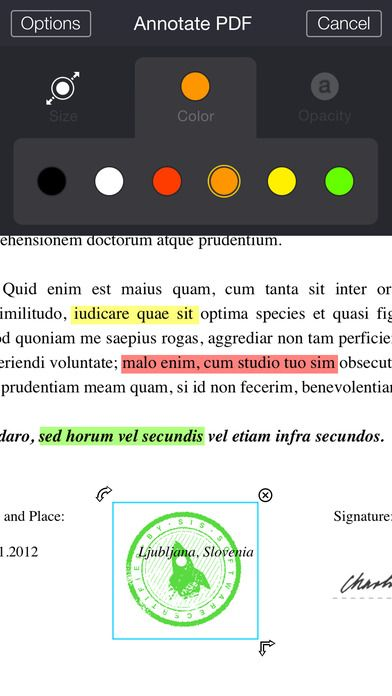 My Scans (PRO) App by TOP APP Main features - Create PDF document