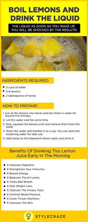 Boil Lemons And Drink The Liquid As Soon As You Wake Up. You Will Be SHOCKED By The Results!