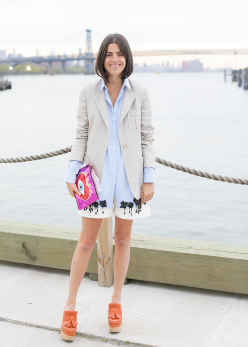 Man Repeller Leandra Medine at the 2015 Dior Cruise runway show in Brooklyn »