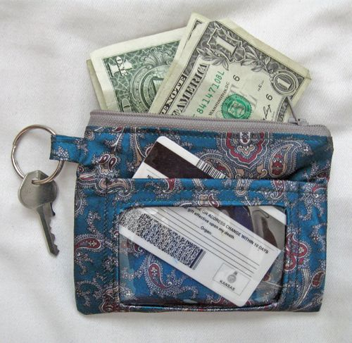 How To Make A Recycled Tie Id Case Weallsew Wallet Sewing Pattern Sewing Purses Diy Wallet