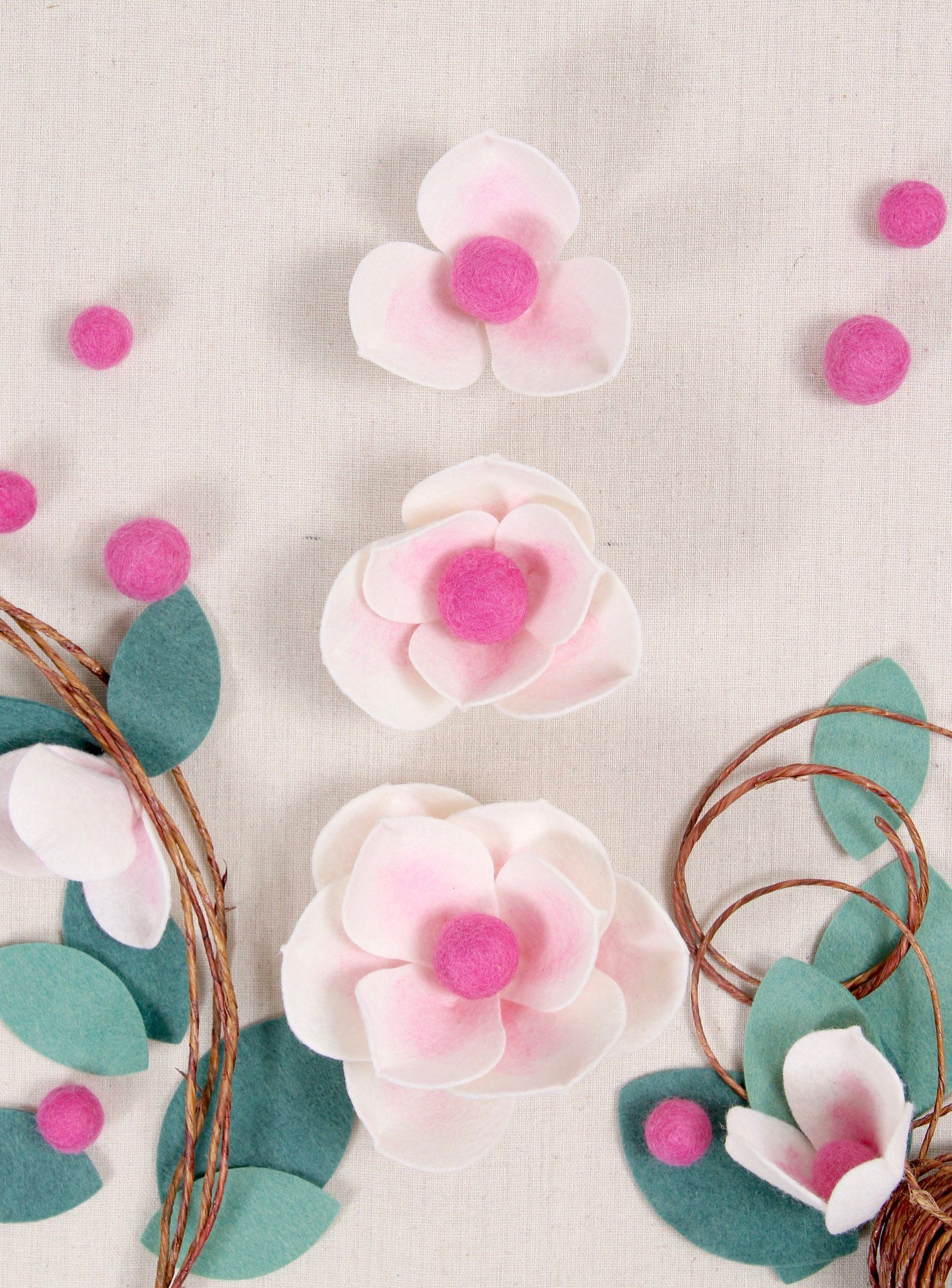 Felt Flowers Diy Felt Flowers Patterns Felt Flowers Felt
