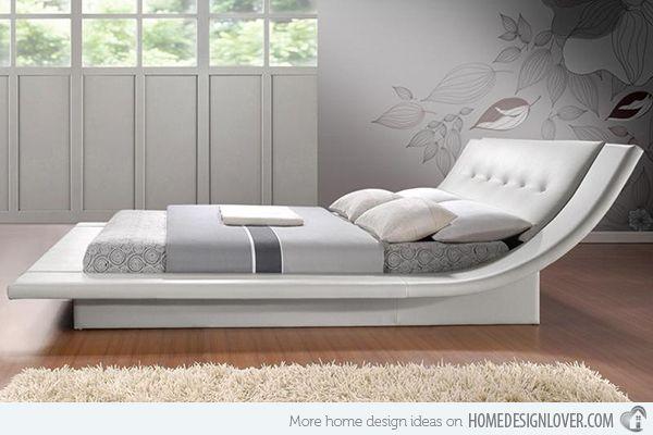 15 Stylistic Curved Platform Beds Modern Bed Bed Furniture