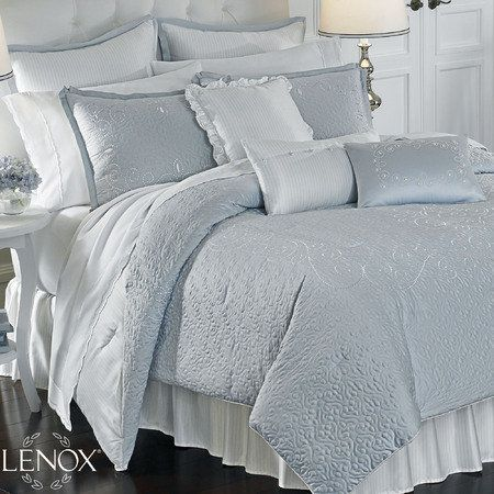 Lenox Pale Blue Bedding With Images Comforter Sets Bedding