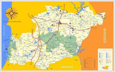 Mapas De Beja Portugal Cidades Portuguesas Alentejo Mapa