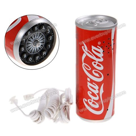Cheap Cartoon Workmanship Telephone with Cola Can Style $7.51