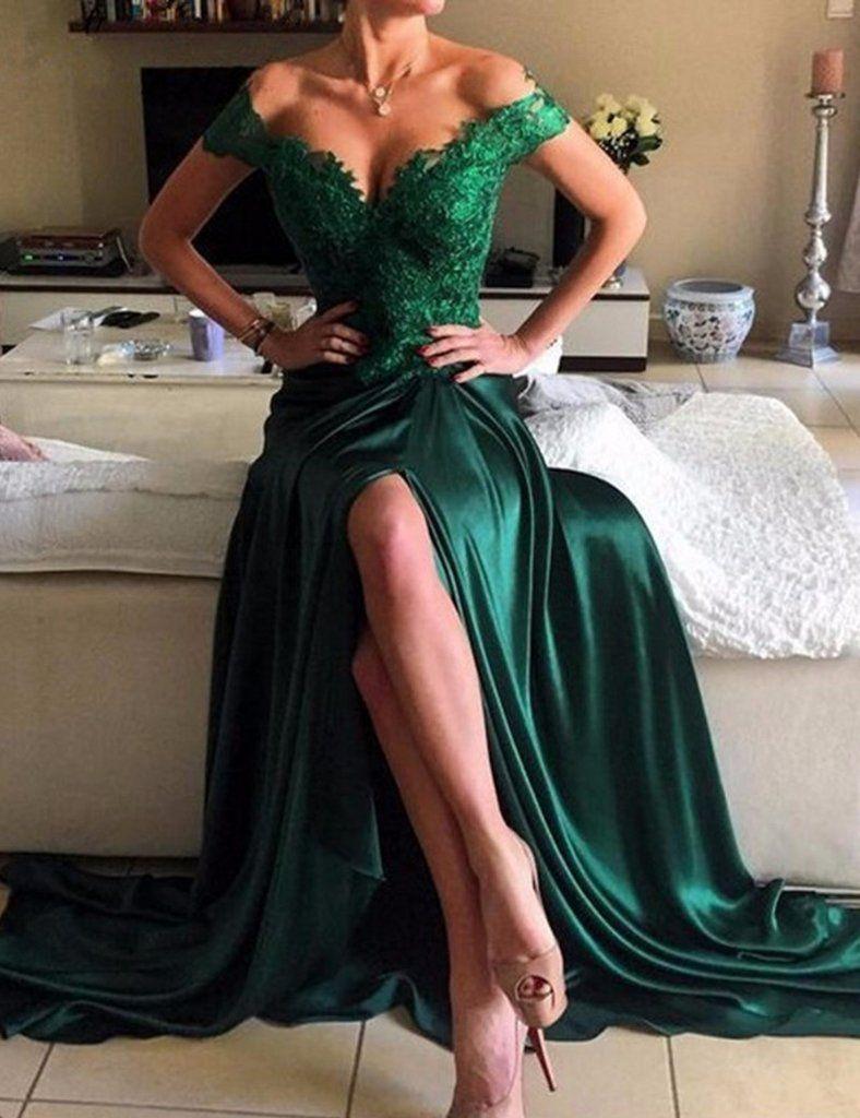 b08dc2ca9f2 green prom dress